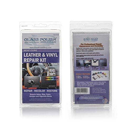 Leder und Vinyl Reparatur-Kit-Hitze Cure (Repariert Risse, Löcher, Risse, Furchen, Zigaretten, Brenndauer) (Hitze Sicher Spatel)