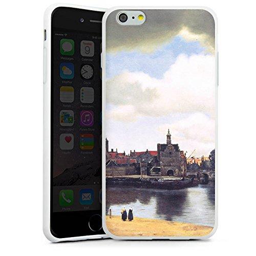 Apple iPhone X Silikon Hülle Case Schutzhülle Jan Vermeer Gemälde Kunst Silikon Case weiß