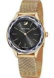 Swarovski Damen-Armbanduhr Analog Quarz One Size, schwarz, rosé