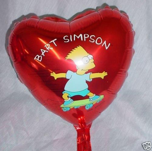 8-rosso-di-bart-simpson-sventare-sfera-mini-cuore-con-il-taglio-e-il-bastone