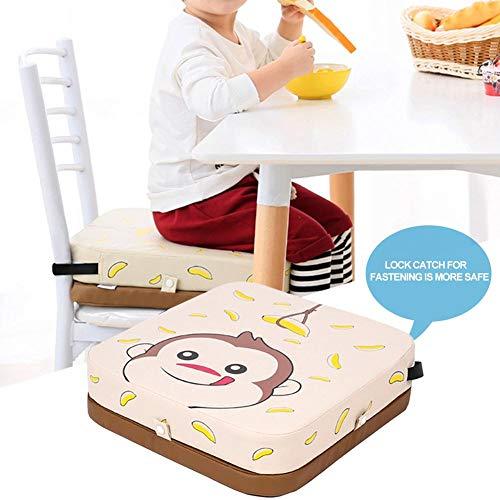 Cuscino per sedia da pranzo Cuscino Sedia antiscivolo impermeabile per bambini con altezza regolabile