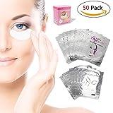 Augenpads Eye Pads - 50 Paar Profi Augen Gel Patch mit Dynamische Passform für Wimpernverlängerung Eye Extensions Augenwimper Beauty