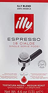 illy ESE Espresso Medium Roasted 18 Single Servings, 131g