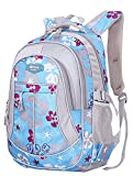 SellerFun® Kid Child Girl Flower Printed Waterproof Backpack School Bag(Blue,Large)