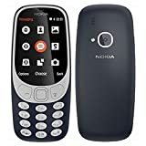 Nokia 3310 Telefono Cellulare, Memoria Interna da 16 MB, Blu Scuro, Single SIM [Italia]