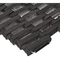 """Durable Corporation 108 Recycled Tire-Link Anti-Fatigue Mat, for Wet Areas, Straight Weave, 17"""" Width x 25"""" Length x 5/8"""" Thickness, Black by Durable Corporation"""