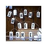 Lichterkette, Letterbox, mit 70 auswechselbaren Buchstaben, Zeichen und 20 warmweißen LED