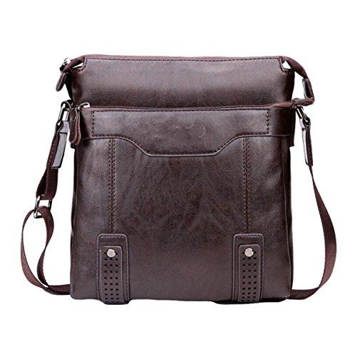 Business-Paket Aktenkoffer Männer Handtasche Umhängetasche Diagonale Paket Freizeit Mode Atmosphäre Brown4