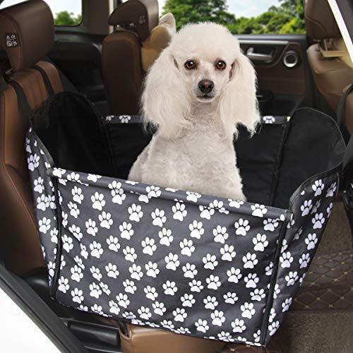 Yikaich Hunde Autositz wasserdicht Einzelnsitz für Haustier Hunde Autoschondecke Rückbank 3 in 1 Abriebfest Schondecke