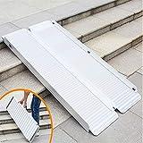 MZTYH Rampa per Sedie A Rotelle X1, Pieghevole Rampe per Valigie con Accesso per Mobilità Portatile in Lega di Alluminio per Scooter/Sedie A Rotelle/Carrelli/Disabili (2 Ft / 4 Ft / 5 Ft / 6 F