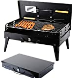 SunJas Barbecue à charbon, Barbecue Four de Charbon Standgrill Portable BBQ Charbon Pliable Robuste Barbecue grill Charbon