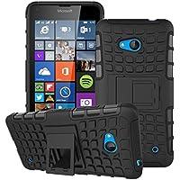 Per Microsoft Lumia 640, Urvoix (TM)-Heavy Duty Hybrid antiurto a doppio strato, con robusta Grenade-Custodia ruvida con funzione cavalletto - Heavy Duty Ruvida