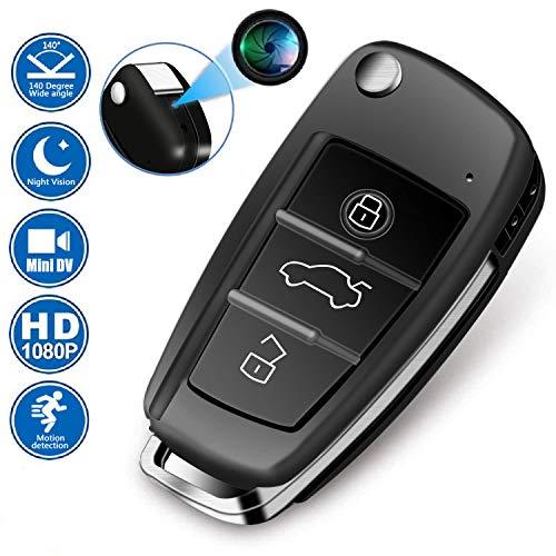 HD Versteckte Kamera Spionage Kamera 1080P Autoschlüssel Form Geschäft Kleine Kamera zur Überwachung Infrarot-Nachtkamera Video-DVR-Recorder Tragbarer Handheld Kamera