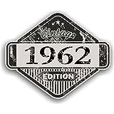 Distressed envejecido Vintage 1962Edition Classic Retro vinilo coche moto Cafe Racer Casco Adhesivo Insignia 85x 70mm