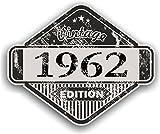 Effet vieilli vintage vieilli 1962Edition Classic Rétro en vinyle de voiture de moto casque Cafe Racer Sticker Badge 85x 70mm