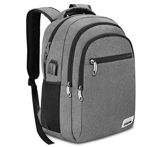 YAMTION Rucksack Herren Laptop Rucksack Schulrucksack mit USB Ladeanschluss für Reise Arbeit Business 35L