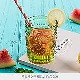 teapotty Retro Entlastungsglas, Wasserglas, Champagner, Weinbecher, Saftschale, Becher, Sonnenblume Tasse, Becher grüne Trompete X.