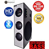 BAYSPOWER BAYS-722 28000 PMPO Earthquake Heavy Bass Tower Speaker Home Theatre System with Bluetooth, MIC,Aux,FM,USB,TV,Remote Control Support. Best for Connecting with LED TV and Desktop Computer.