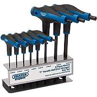 "Draper Thex/SG/8/B manico soft grip""T e esagonali chiave set, blu, pezzi"
