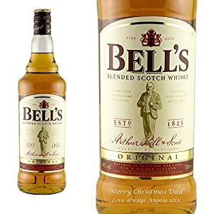 Personalised Bells Blended Whisky 100cl Engraved Gift Bottle from Bells