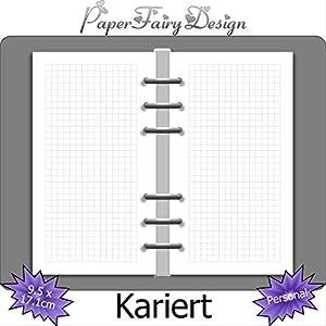 Kalendereinlagen - Personal (9.5cm x 17.1cm) - Kariert - 120g Premium Papier