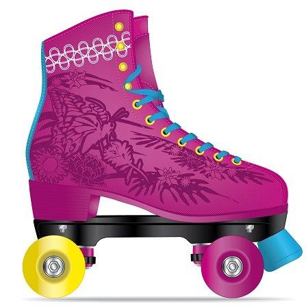 Fila Skates Juliet Patines, Mujer, Rosa / Azul Claro, 39
