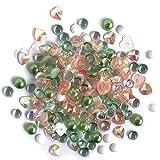 Buttons Galore Sparkletz Cactus - Gemas acrílicas Transparentes, Lentejuelas, Perlas de Fondo Plano - 3 Paquetes de 36 Gramos
