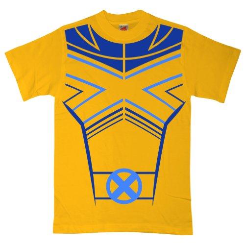 Refugeek Tees - Herren T Shirt - X Man - XX-Large - Yellow