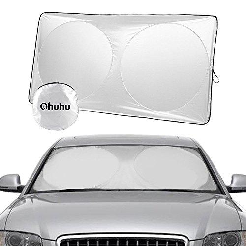 Foto de Parasol para parabrisas de coche, Ohuhu Auto Car Sun Shade Cubierta del parabrisas Protector del visera Sombrillas Toldo Sombra,