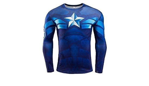 005 Yjy Maglia T Shirt Sportiva Manica Lunga con Stampa