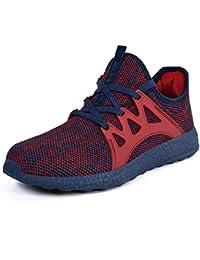 QANSI Herren Damen Sportschuhe Laufschuhe Sneaker Atmungsaktiv Leichte  Wanderschuhe 0aed32278a