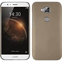 Funda Rígida para Huawei G8 - goma oro - Cover PhoneNatic Cubierta + protector de pantalla