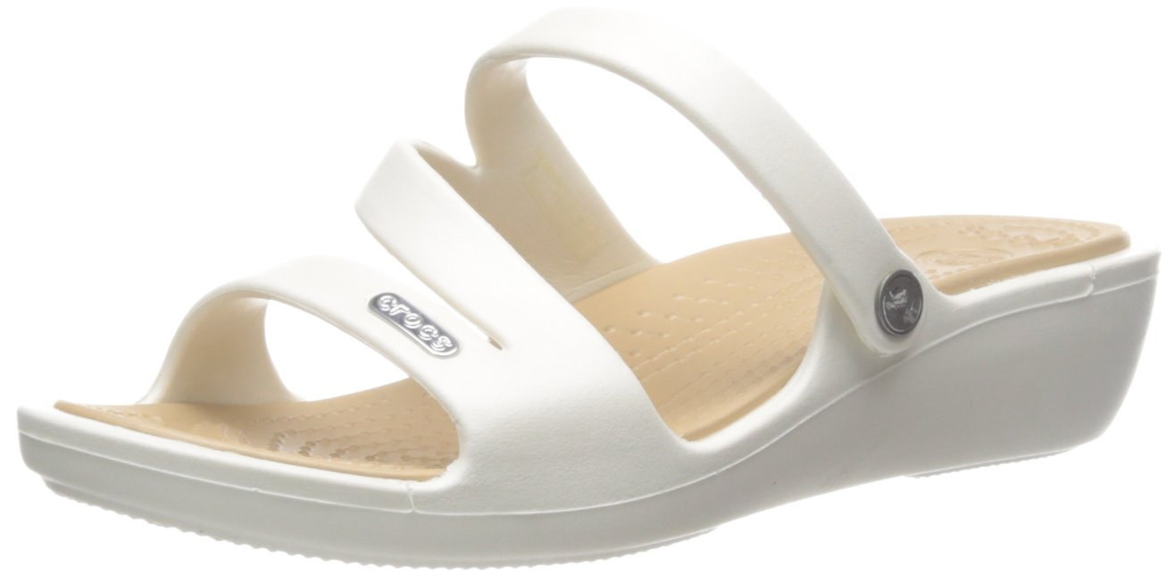 crocs Women's Patricia Oyster or Gold Fashion Sandals-W9 (10386)