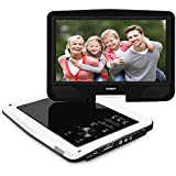 SYNAGY 10.1inch Portable DVD Player For Car Portable CD Player With Screen & SD Card Slot For Kids Adults Seniors (White)