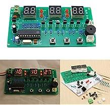 Ils - Kit de 5V-12V AT89C2051 Multifunción LED DIY Reloj electrónico Digital Seis