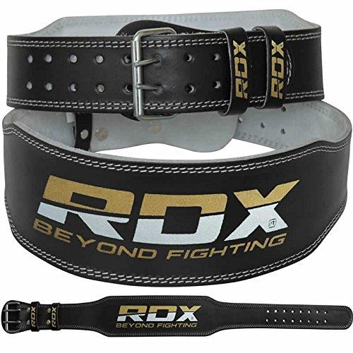 RDX Vacchetta Cuoio 4 Sollevamento Pesi Cintura Pesistica Fitness Allenamento Bodybuilding Schien