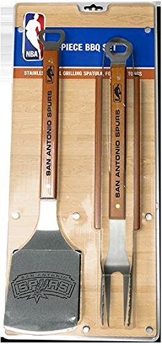 Sportula Products ss-sp-90219339021933 3PIECE stainless steel BBQ set, San Antonio Spurs