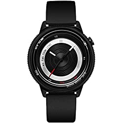Break New Original Top Luxus Marke Herren Damen Unisex Schwarz Rubber Strap Fashion Sport Cool Quarz Modern City Lifestyle Creative Kamera Thema Uhren