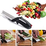 Clever Cutter 2-in-1 Food Chopper Multifunction Kitchen Vegetable Scissors Cutter-Replace Kitchen Knife And Cutting Board
