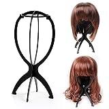 SODIAL(R) Kunststoff-Peruecke Anzeige stabilen und langlebigen Peruecke Haar Hat Staender Haar-Halter-Anzeige - schwarz