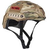 OneTigris Taktische Helm Für Airsoft Paintball Sporthelm ohne Schutzbrillen (MC Camouflage)