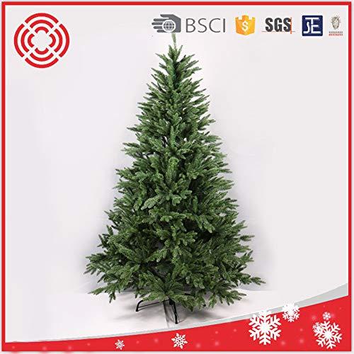 DW&HX Scharnier Künstlicher Weihnachtsbaum Kiefer, Grün Umweltfreundlich Prelit Weihnachtsbaum Ganz einfach aufbauen Ständer aus Metall Gefälschte weihnachtsbaum-210CM 2.1m/6.9 ft