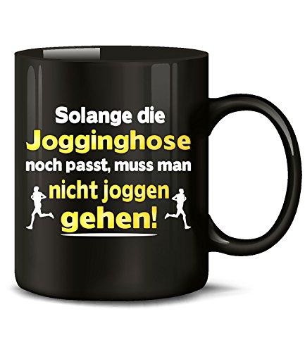 Gehen Diät-tee (love-all-my-shirts Solange die Jogginghose noch passt muss Man Nicht joggen gehen 5208 Diät Fun Tasse Becher Kaffeetasse Kaffeebecher Schwarz)
