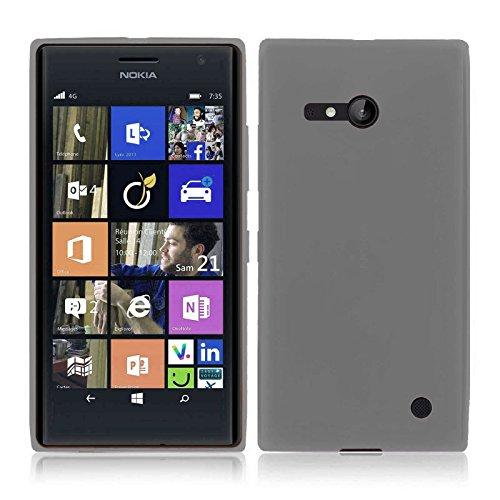 TBOC® Schwarz Gel TPU Hülle für Nokia Lumia 730 Dual SIM Ultradünn Flexibel Silikonhülle