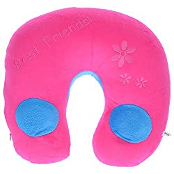 Twisha U Neck Pillow With Speaker Pink / Blue 6 X 11 X 12 inch