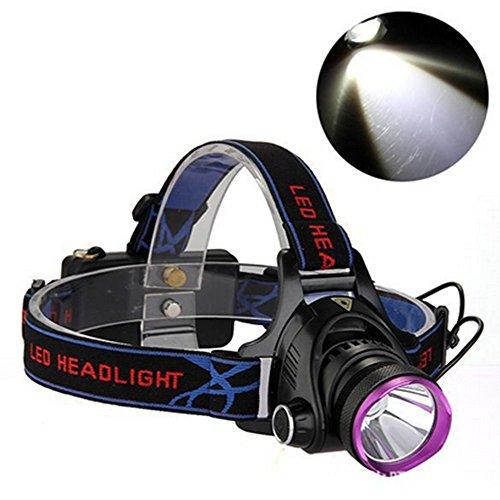 Preisvergleich Produktbild Boruit LED Stirnlampe Super Hell XML-T6 2200LM Scheinwerfer Wiederaufladbar USB mit EU-Stecker Wasserdicht