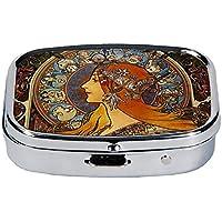 Fridolin 18248Jugendstil Zodiak Pillenbox Metall Mehrfarbig 5,1x 3,6x 1,8cm preisvergleich bei billige-tabletten.eu