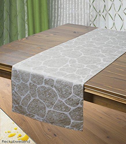 Tischläufer STONE / Naturstein-Look / 40x140 cm / grau