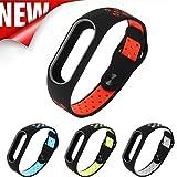 Upxiang Mode leichte Lüftung Smart Handgelenk Armband, Ersatz Wristband für Xiaomi Mi Band 2 (Rot)