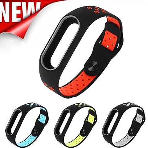 Upxiang Mode leichte Lüftung Smart Handgelenk Armband, Ersatz Wristband für Xiaomi Mi Band 2 (Grüne Scraper)